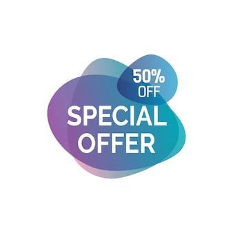 Rotulação de oferta especial em borrões Vetor grátis