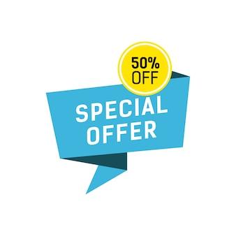 Rotulação de oferta especial sobre a bolha de fala