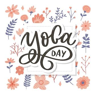 Rotulação do dia internacional da ioga.