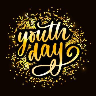 Rotulação do dia internacional da juventude internacional