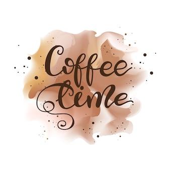 Rotulação do tempo do café. ilustração do vetor.
