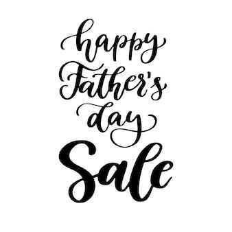 Rotulação escrita à mão da venda do dia de pai.