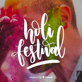Rotulação festival de holi