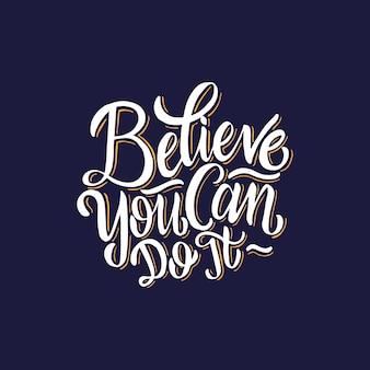 Rotulação / tipografia pôsteres citações inspiradores