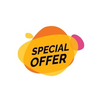 Rotulagem de oferta especial em borrões de tinta