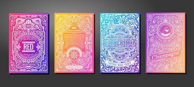 Rotular quadros em fundo gradiente de cor