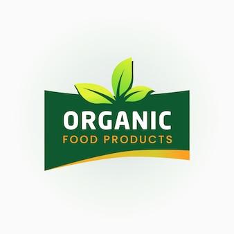 Rótulo certificado para alimentos 100% orgânicos
