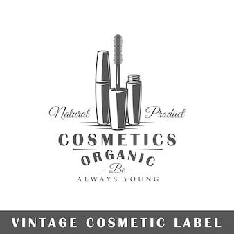 Rótulo cosmético isolado em fundo branco