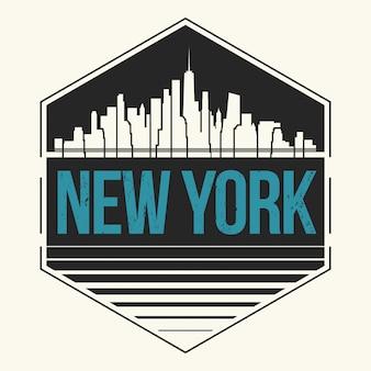 Rótulo da cidade de nova york