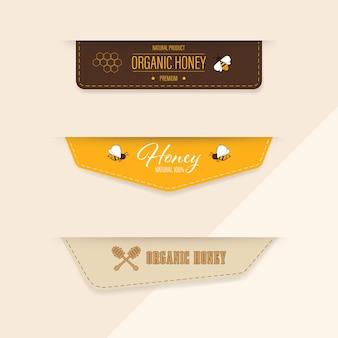Rótulo de abelhas e banner.