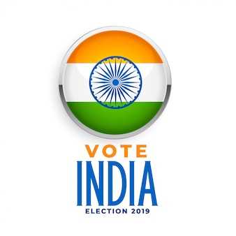 Rótulo de bandeira indiana para a eleição de 2019