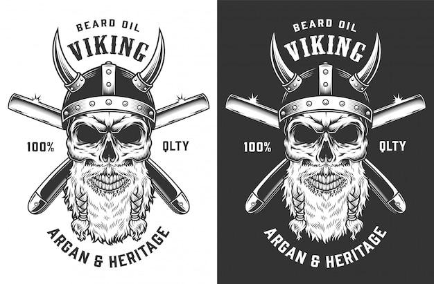 Rótulo de barbearia monocromático vintage