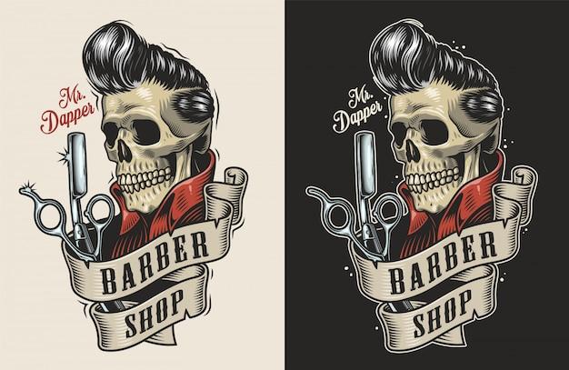 Rótulo de barbearia vintage