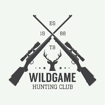 Rótulo de caça vintage, logotipo