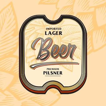 Rótulo de cerveja, bebidas arrojadas de estilo vintage