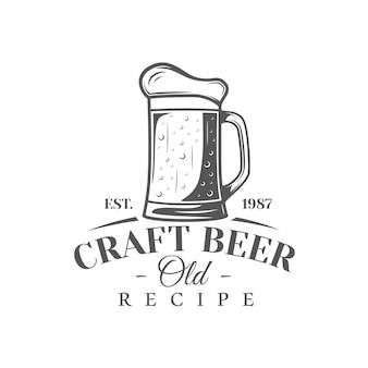 Rótulo de cerveja isolado em fundo branco