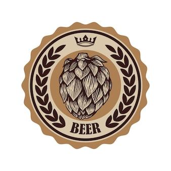 Rótulo de cerveja vintage