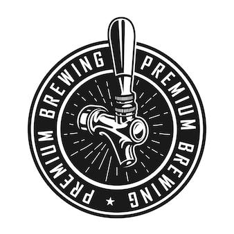 Rótulo de cervejaria premium vintage