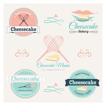 Rótulo de cheesecake vintage.