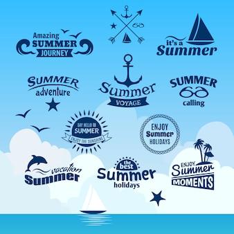 Rótulo de elemento de verão