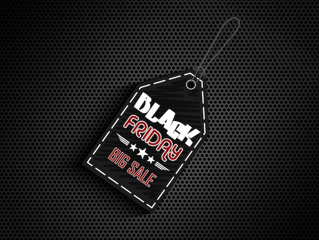Rótulo de etiqueta de venda sexta-feira negra