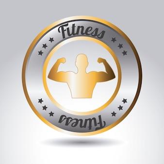 Rótulo de fitness metálico