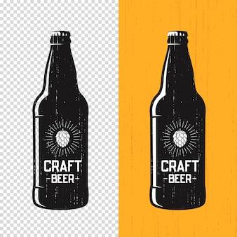 Rótulo de garrafa de cerveja artesanal texturizada