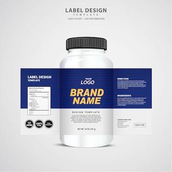 Rótulo de garrafa, design de modelo de pacote, design de rótulo, mock up modelo de rótulo de design