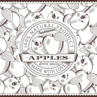 Rótulo de maçã vintage