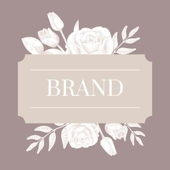 Rótulo de marca romântica