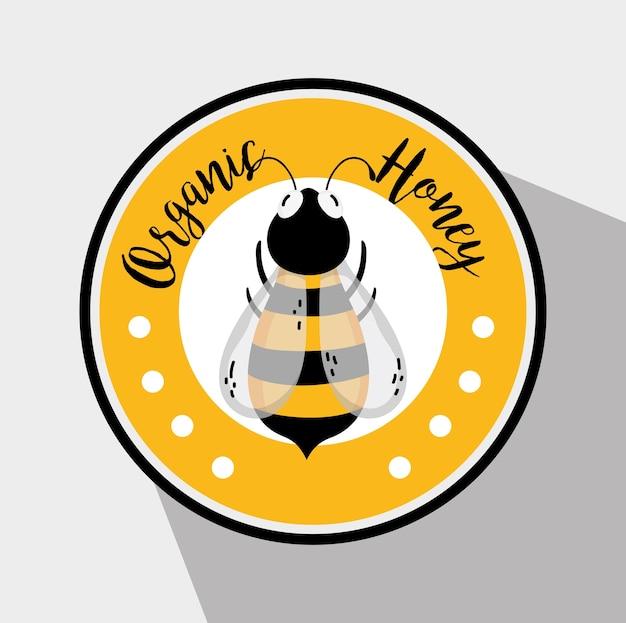 Rótulo de mel orgânico
