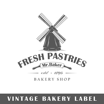 Rótulo de padaria em fundo branco. elemento. modelo de logotipo, sinalização, branding. ilustração