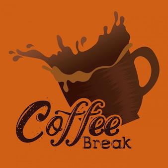 Rótulo de pausa para café delicioso