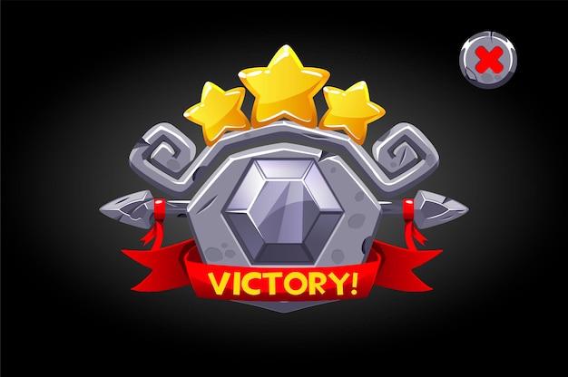 Rótulo de pedra da vitória