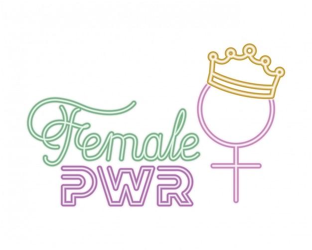 Rótulo de poder feminino isolado ícone