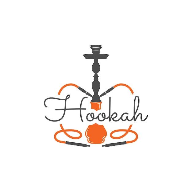 Rótulo de relaxamento do cachimbo de água, crachá. logotipo vintage shisha. emblema do café lounge. bar ou casa árabe, loja. isolado. imprimir em camisetas etc. ilustração em vetor de estoque.