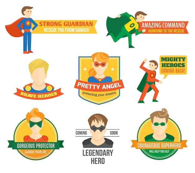 Rótulo de super-heróis