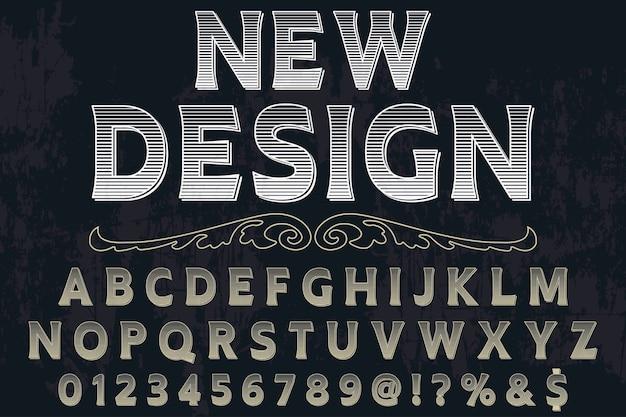 Rótulo de tipo novo design