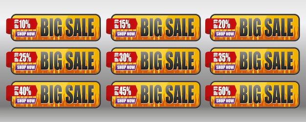 Rótulo de venda até 1050 por cento grande venda na loja agora