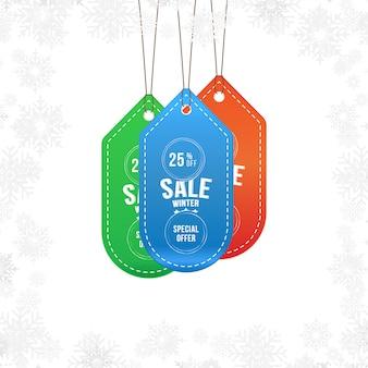 Rótulo de venda de inverno