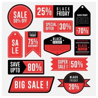 Rótulo de venda e distintivo de emblema de sexta-feira negra