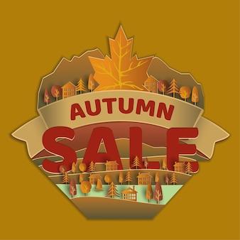 Rótulo de venda outono