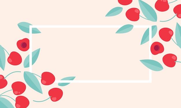 Rótulo de vetor de venda temporada com cereja.