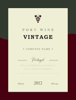 Rótulo de vinho do porto