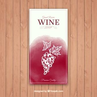 Rótulo de vinho grande reserva