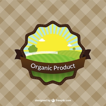 Rótulo do produto orgânico colorido