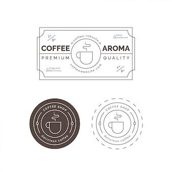 Rótulo e crachá de café premium