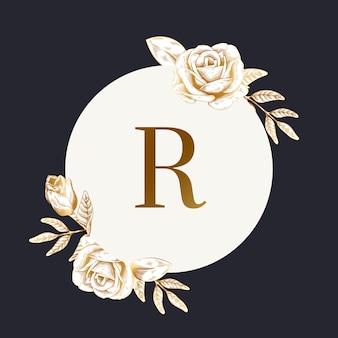 Rótulo floral redondo