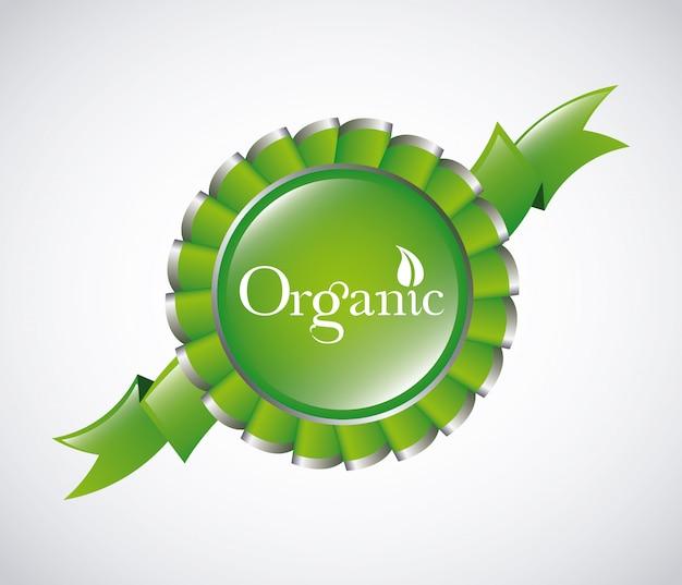 Rótulo orgânico verde