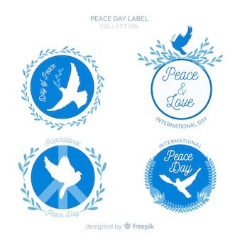Rótulos bonitos do dia da paz